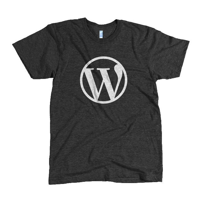 WordPress Logo Black Tri-Blend T-Shirt – WordPress Swag Store