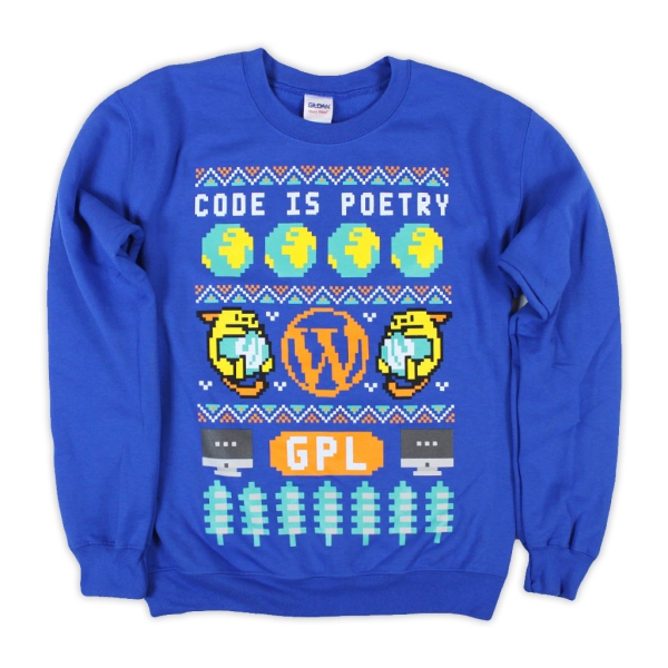 WordPress Ugly Holiday Sweatshirt