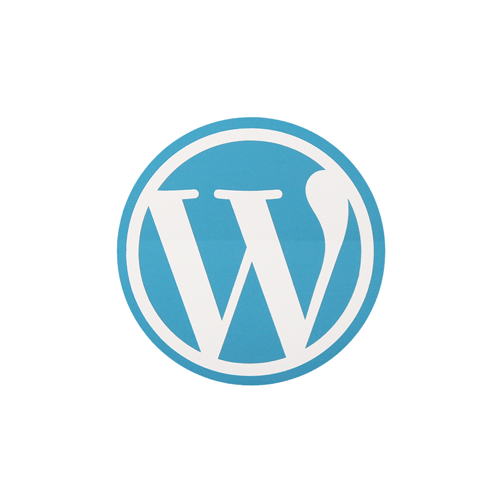 wordpress round sticker � wordpress swag store